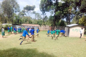 The Water Project: Koitabut Primary School -  Rush For Latrines During Class Break