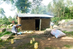 The Water Project: Eshiakhulo Primary School -  Kitchen And Water Containers