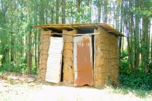 The Water Project: Munenga Community, Burudi Spring -  Latrine