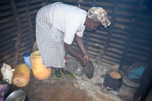 The Water Project: Ndithi Community -  Cooking In Kitchen
