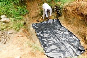 The Water Project: Mungakha Community, Nyanje Spring -  Foundation Construction
