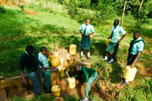 The Water Project: Esibila Secondary School -  Fetching Water