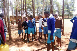 The Water Project: Sango Primary School -  Fetching Water