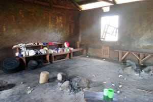 The Water Project: Sikhendu Primary School -  School Kitchen With Drinking Cups