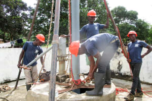 The Water Project: Pewullay Church of God Primary School -  Drilling