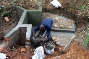 The Water Project: Mungakha Community, Asena Spring -  Construction