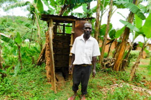 The Water Project: Wajumba Community, Wajumba Spring -  Evans At His Latrine