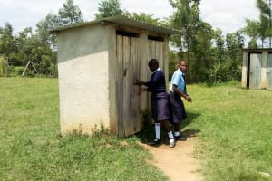 The Water Project: Musango Mixed Secondary School -  Latrines