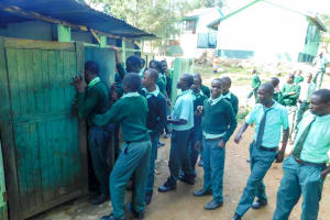 The Water Project: Esibila Secondary School -  Overcrowded Latrines