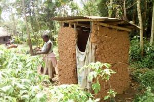 The Water Project: Musango Community, Emufutu Spring -  A Sample Latrine