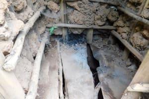 The Water Project: Wajumba Community, Wajumba Spring -  Dangerous Latrine Floor