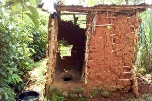 The Water Project: Musango Community, Mwichinga Spring -  Sample Latrine