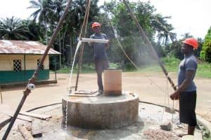 The Water Project: DEC Komrabai Primary School -  Bailing