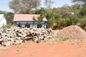 The Water Project: AIC Mbau Secondary School -  Stones The Parents Collected