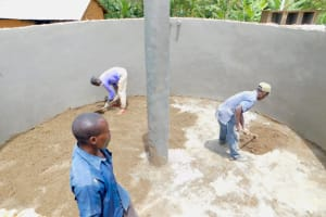 The Water Project: Eshikufu Primary School -  Tank Construction