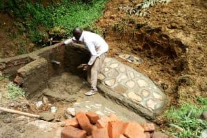 The Water Project: Mungakha Community, Nyanje Spring -  Spring Construction