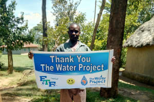 The Water Project: Mungakha Community, Asena Spring -  Sanitation Platform