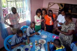 The Water Project: Matungu SDA Special School -  Students Learning To Bead