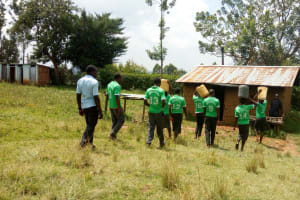 The Water Project: Chebunaywa Secondary School -  Carrying Water