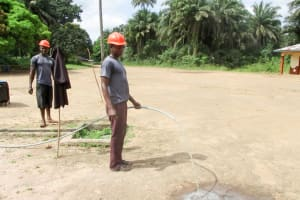 The Water Project: DEC Komrabai Primary School -  Yield Test