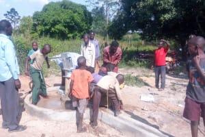 The Water Project: Karagalya Kawanga Community -  Water Flowing
