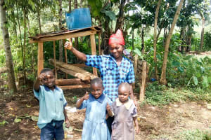 The Water Project: Mungakha Community, Nyanje Spring -  Sanitation Platform