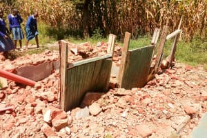 The Water Project: Sango Primary School -  Broken Down Latrines