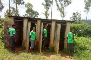 The Water Project: Chebunaywa Secondary School -  Latrines