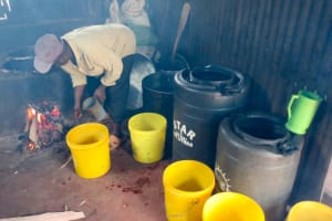 The Water Project: Koitabut Secondary School -  Water Storage In Kitchen