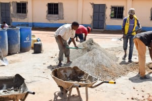 The Water Project: Kitooni Primary School -  Construction