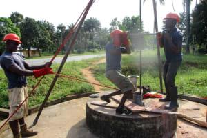 The Water Project: Komrabai Community, 35 Port Loko Road -  Drilling