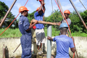 The Water Project: DEC Mathem Primary School -  Drilling