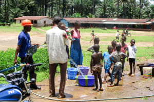 The Water Project: Pewullay Church of God Primary School -  Flushing