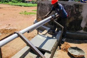 The Water Project: Modia Community, 63 Spur Road -  Construction Special Well Pad
