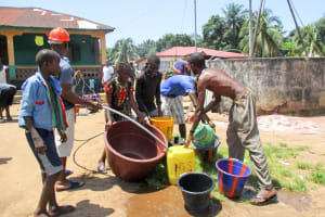 The Water Project: Modia Community, 63 Spur Road -  Yield Test