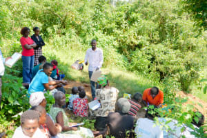 The Water Project: Mungakha Community, Nyanje Spring -  Trainer Protus