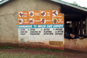 The Water Project: Kegoye Primary School -  Sign On Classroom Block