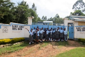 The Water Project: Koitabut Secondary School -  Students At The Gate