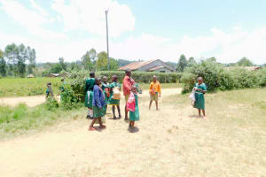 The Water Project: Elufafwa Community School -  Students Arriving At School