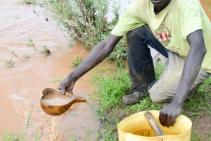 The Water Project: Muluti Community A -  Fetching Water