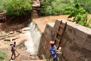 The Water Project: Kaliani Community -  Finished Sand Dam