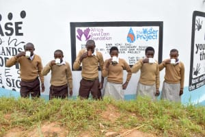The Water Project: Kithoni Secondary School -  Flowing Water