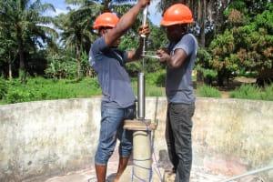 The Water Project: DEC Mathem Primary School -  Pump Installation