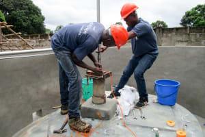 The Water Project: United Brethren Academy Secondary School -  Pump Installation