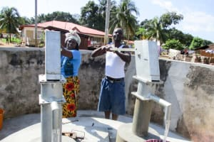 The Water Project: Modia Community, 63 Spur Road -  Pump Installation