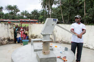 The Water Project: Pewullay Church of God Primary School -  Pumping Water