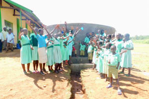 The Water Project: Eshikufu Primary School -  Water Flowing