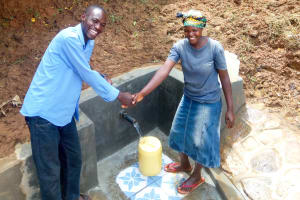 The Water Project: Mungakha Community, Nyanje Spring -  Flowing Water