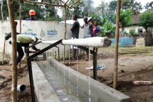 The Water Project: Pewullay Church of God Primary School -  Handwashing Pipe