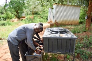 The Water Project: AIC Mbau Secondary School -  Handwashing Station